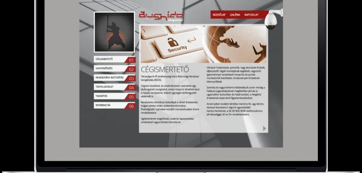 Bushido Defend weboldala