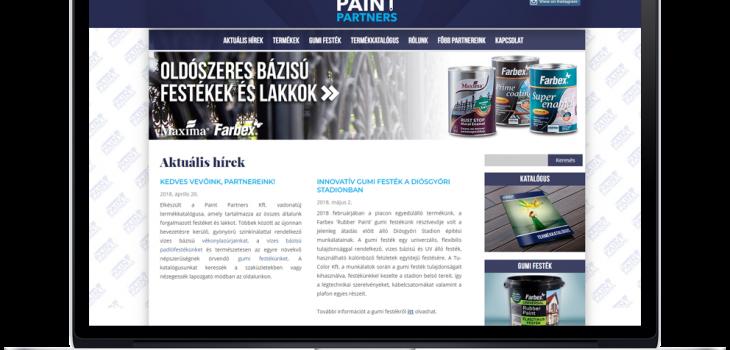 Paint Partners Kft weboldala