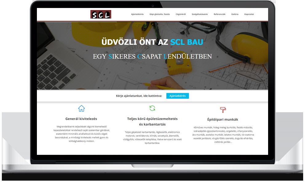 SCL Bau weboldala