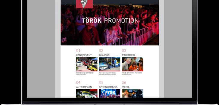Török Promotion weboldala