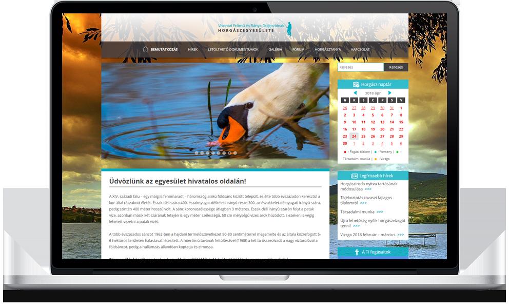Visontai horgászegyesület weboldala